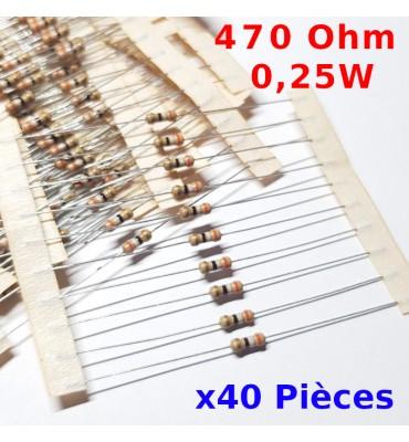 100 résistances couche carbone 27R 1//4W 5/%