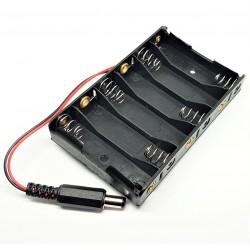 caja de la batería con baterías de pinza 6 AA para Arduino