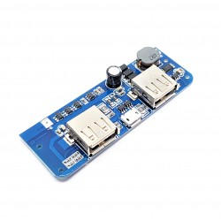 Double USB 5V 1A/2.1A Mobile Power Charger Board Step Up Boost Bank Charging Module