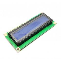 LCD de visualización 1602 (símbolos 2 filas de 16 columnas) BLUE