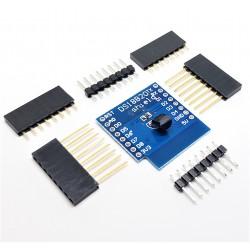 sensore di temperatura modulare mini DS18B20 Shield Wemos D1