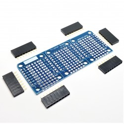 Triple Shield Prototyping for Wemos D1 Mini