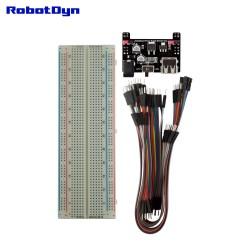 RobotDyn Breadboard + Alim 5 v/3.3 v (1A) + 60 cavalier câbleurs