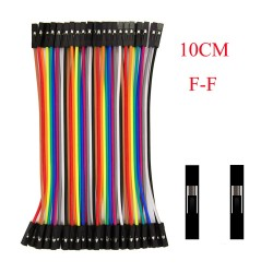 40 Female/Female Dupont Line Jumper Cable- 40 x 100mm