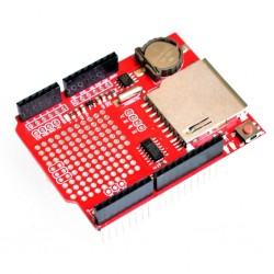 logger XD-05 scudo rosso con il lettore di schede SD e orologio integrato