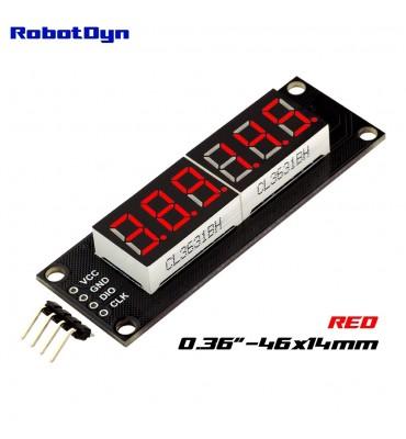 Display LED bianco a 6 cifre RobotDyn, 7 segmenti, TM1637, 46x14mm