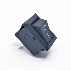Toggle Switch Black, 10x15mm, SPST, On-Off, 3A