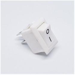 Commutateur à bascule blanc, 10x15mm, SPST, On-Off, 3A