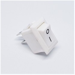 interruttore a levetta bianco, 10x15mm, SPST, On-Off, 3A