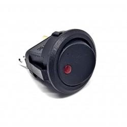 Wippschalter, rund, leuchtend rote LED, SPST, On-Off, 20A 12V