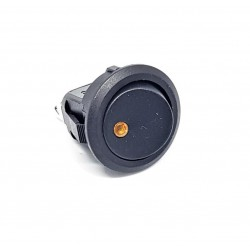 Rocker Switch, Round, ha condotto la luce gialla, SPST, On-Off, 20A 12V