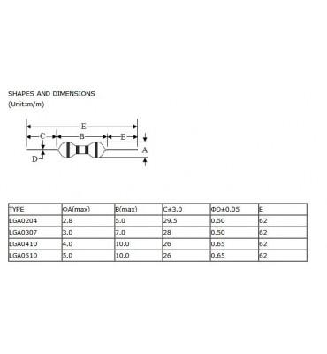 2200uH 1W SERIE 0510  self- bobine 7574Z x10 Pcs Inductance Axiale 2.2mH