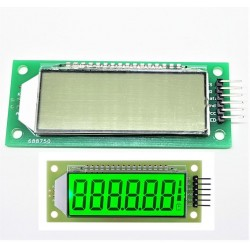 LCD Display Module Green Backlight 2.4 inch 6-Digit 7 Segment HT1621 for Arduino