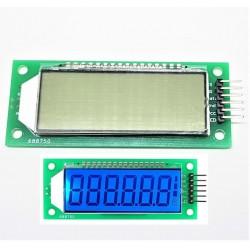 Module LCD Rétro-Éclairage bleu 2.4 pouce 6 Chiffres 7 Segments HT1621