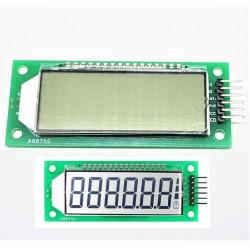 Módulo LCD de luz de fondo blanco gris 2,4 pulgadas 6 Figuras 7 Segmento HT1621