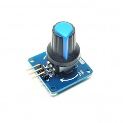 Module Interrupteur Rotatif à variation bouton bleu Réglable Potentiomètre