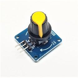modulo selettore rotativo pulsante giallo variabile potenziometro regolabile