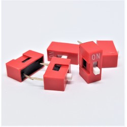 X5PCS DIP SWITCH TRU COMPONENTS 1 POLE SLIDE TYPE SWITCH