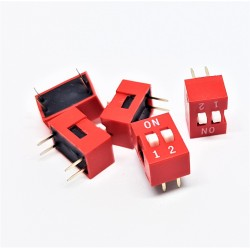 x5 pcs Interrupteur DIP TRU COMPONENTS 2 pôles Slide Type Switch