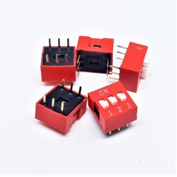 x5 pcs Interrupteur DIP TRU COMPONENTS 3 pôles Slide Type Switch