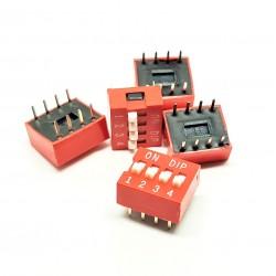 x5 PC Componentes de interruptores DIP TRU de 4 polos tipo interruptor deslizante