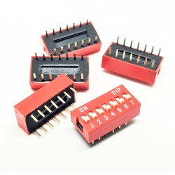 X5PCS DIP SWITCH TRU COMPONENTS 7-POLE SLIDE TYPE SWITCH