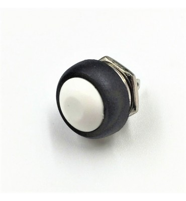 12mm waterproof momentary WHITE push button