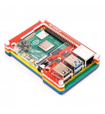 Pibow Coupé 4 - Rainbow for Raspberry Pi 4