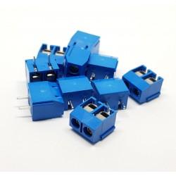 x10 pezzi Connettori a morsettiera a vite KF301 2P Blu