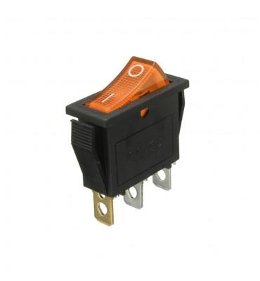 Wippschalter, leuchtende gelbe LED, SPST, Ein-Aus, 15A