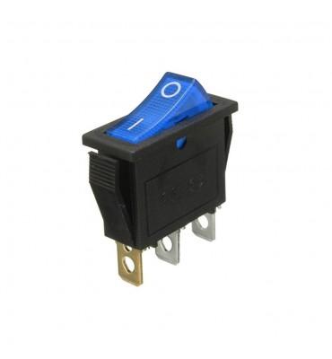 Wippschalter, blau beleuchtete LED, SPST, Ein-Aus, 15A