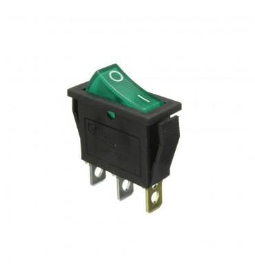Kippschalter, leuchtende grüne LED, SPST, Ein-Aus, 15A