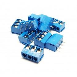 x10 pièces Borne à vis Bloc Connecteurs KF301 3P Bleu