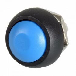 Bouton-poussoir Bleu à rappel Momentané étanche 12mm