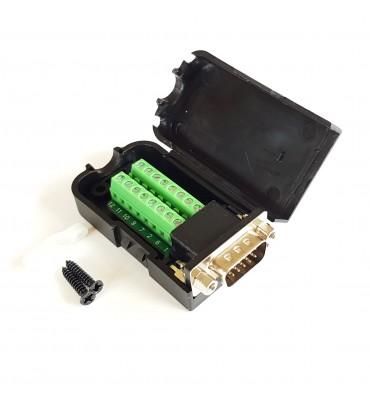 VGA male D-SUB DB15 adapter 16 pin terminal block + box
