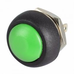 Bouton-poussoir Vert à rappel Momentané étanche 12mm