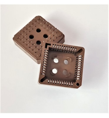 x2 Supports PLCC44 DIP IC Socket 44 broches DIP