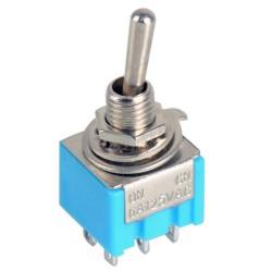 Interruptor MTS-103 palanca 6-Pin SPDT, On-Off, 3A / 6A