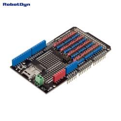 Carte RobotDyn Sensor Shield pour Arduino Mega 2560, avec SD-card logger
