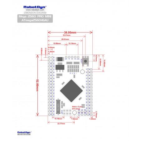 RobotDyn Mega 2560 PRO MINI/ATmega2560-16AU 3 3v clone Arduino