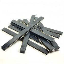10 PCS 40Pin 2.54mm Female Single Row Pin Header Connector Strip