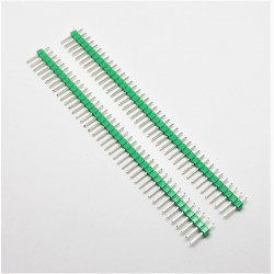 2 pcs Green 40 Pin 2.54mm Single Row Male Pin Header Strip For arduino