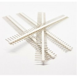4 pcs WHITE 40 Pin 2.54mm Single Row Male Pin Header Strip For arduino