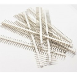 10 pcs WHITE 40 Pin 2.54mm Single Row Male Pin Header Strip For arduino