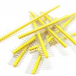 10 pcs YELLOW 40 Pin 2.54mm Single Row Male Pin Header Strip For arduino