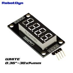 Display LED bianco RobotDyn 4 cifre, 7 segmenti, TM1637, 30x14mm