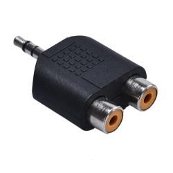 Adattatore cavo audio maschio stereo doppio da 2-RCA a 3,5 mm