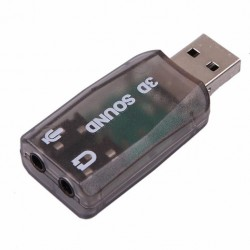 Carte son USB Adaptateur USB externe audio 5.1 (micro / haut-parleur).