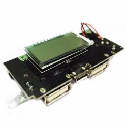 Chargeur de batterie double USB 5V 1A 2.1A Mobile Power Bank 18650