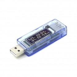 Probador de voltaje actual de alimentación USB de pantalla 4V-20V
